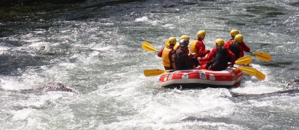 descida de rafting